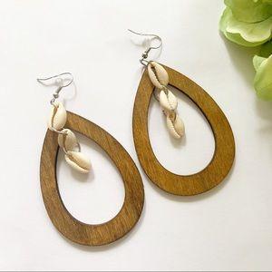 Hoop Wooden Earrings